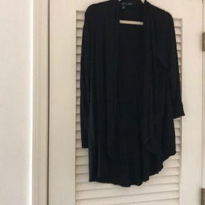 Lane Bryant light sweater, black, size 14-16.